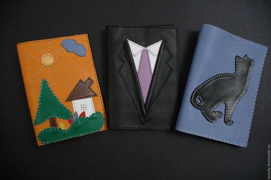 Обложки ручной работы. Ярмарка Мастеров - ручная работа. Купить Обложка для паспорта с апликацией. Handmade. Комбинированный, обложка для паспорта
