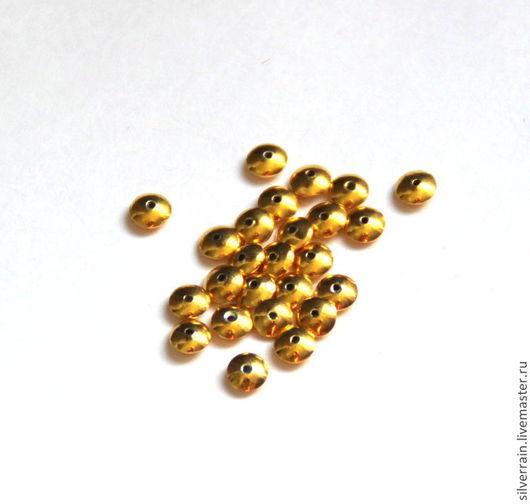 Для украшений ручной работы. Ярмарка Мастеров - ручная работа. Купить бусина  серебро 925 Бали покрытие Вермеил. Handmade.