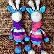 Куклы и игрушки ручной работы. Ярмарка Мастеров - ручная работа Вязаные жирафы. Handmade.