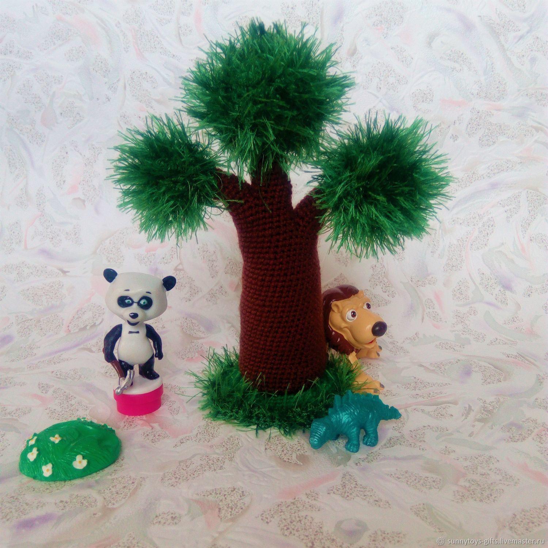 Сказочный лес Сосна Пушистое дерево Вязаные декорации, Кукольный театр, Березовский,  Фото №1