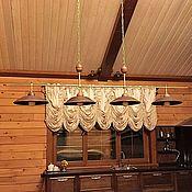 Для дома и интерьера handmade. Livemaster - original item Ceramic chandelier with four large shades and brass frame. Handmade.