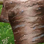 Аксессуары ручной работы. Ярмарка Мастеров - ручная работа Валяный шарф-снуд Сливочно-коричневый. Handmade.