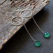 Украшения handmade. Livemaster - original item Earrings with natural onyx Green Fresh. Handmade.