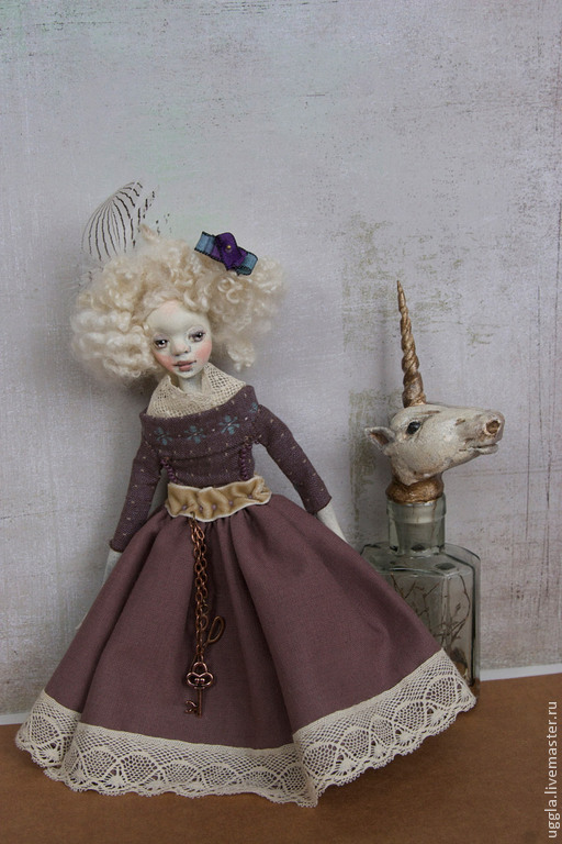 Коллекционные куклы ручной работы. Ярмарка Мастеров - ручная работа. Купить Жене. Кукла ручной работы. резерв. Handmade. Сиреневый