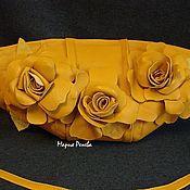 """Сумки и аксессуары ручной работы. Ярмарка Мастеров - ручная работа Клатч с цветами """" Чайные розы"""". Handmade."""