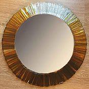 """Для дома и интерьера ручной работы. Ярмарка Мастеров - ручная работа Зеркало """"Солнце"""". Handmade."""