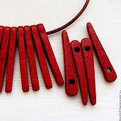 Материалы для творчества ручной работы. Ярмарка Мастеров - ручная работа Бусина керамическая Шип (отв. 2,4 мм). Handmade.