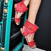 Обувь ручной работы. Ярмарка Мастеров - ручная работа Летние сапожки Бейсик 10. Handmade.