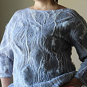 Одежда ручной работы. Ярмарка Мастеров - ручная работа Джемпер валяный  Северный ветер. Handmade.