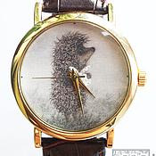 """Украшения ручной работы. Ярмарка Мастеров - ручная работа Часы наручные JK """"Ежик"""" в золотом. Handmade."""
