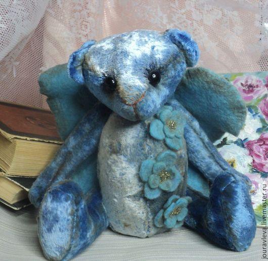 Мишки Тедди ручной работы. Ярмарка Мастеров - ручная работа. Купить Ангел. Handmade. Голубой, ангел, бисер, подарок