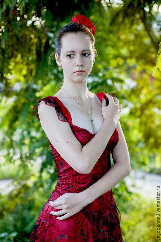 Платья ручной работы. Ярмарка Мастеров - ручная работа. Купить Платье Lady in Red,вечернее платье.... Handmade.