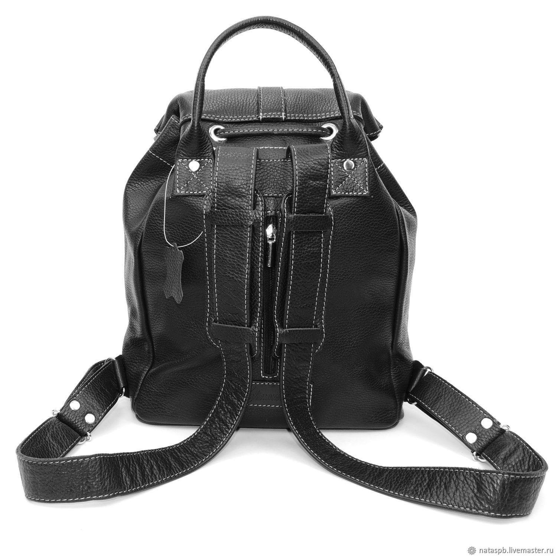 c227ed6cf06d ... Рюкзаки ручной работы. Черный кожаный рюкзак 'Альба'. Калиновская  Наталья Рюкзаки Сумки. ...