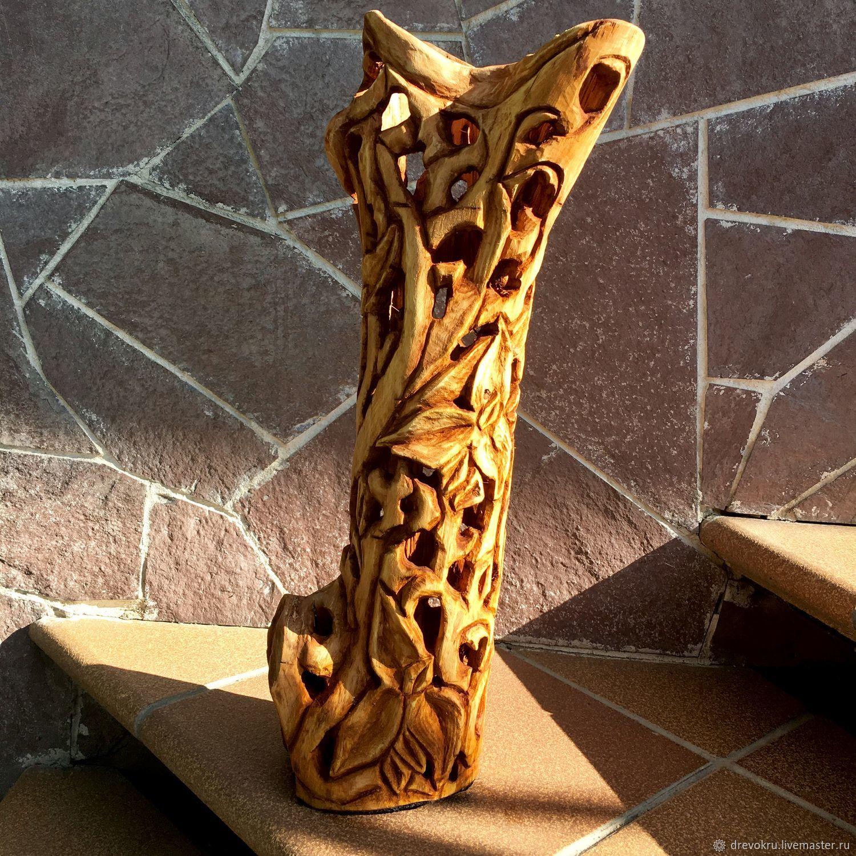 Ваза деревянная «Штрудель», Вазы, Самара,  Фото №1