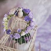 Диадемы ручной работы. Ярмарка Мастеров - ручная работа Венок с цветами из фоамирана. Handmade.