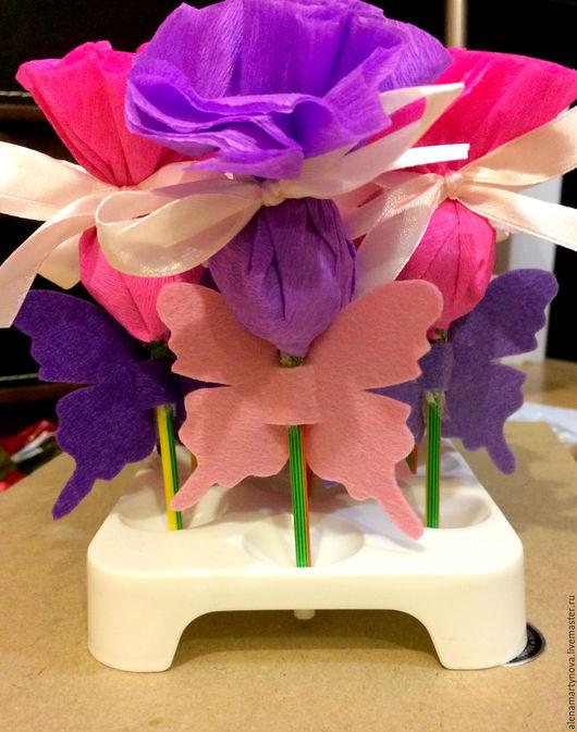 """Праздничная атрибутика ручной работы. Ярмарка Мастеров - ручная работа. Купить Набор для оформления дня рождения """"Бабочки"""". Handmade. Фуксия"""