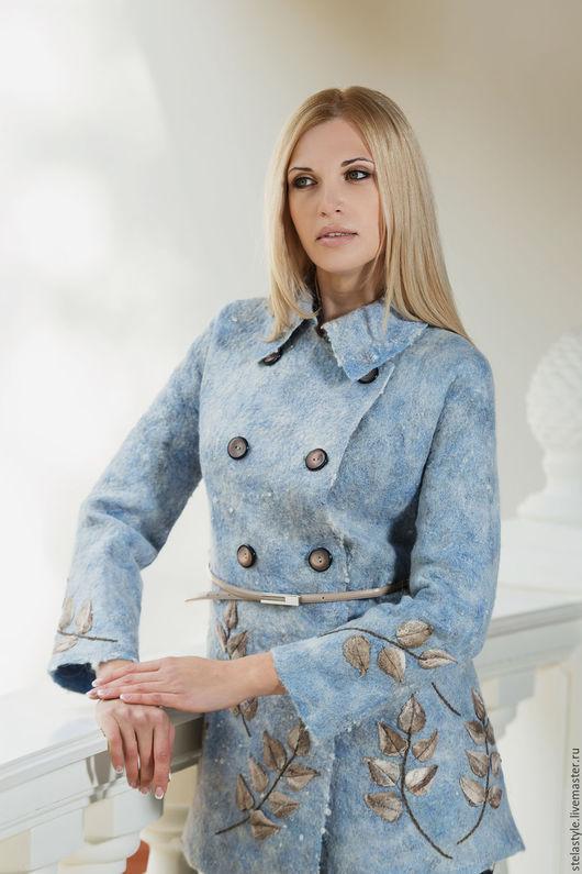 """Пиджаки, жакеты ручной работы. Ярмарка Мастеров - ручная работа. Купить """" Bleu"""". Handmade. Голубой, ручная авторская работа"""