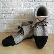 Обувь ручной работы. Ярмарка Мастеров - ручная работа Ботинки демисезонные. Handmade.