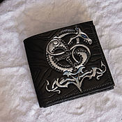Сумки и аксессуары handmade. Livemaster - original item Leather wallet with embossed Ouroboros. Handmade.