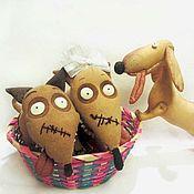Куклы и игрушки ручной работы. Ярмарка Мастеров - ручная работа Собачки Спарки пара. Handmade.