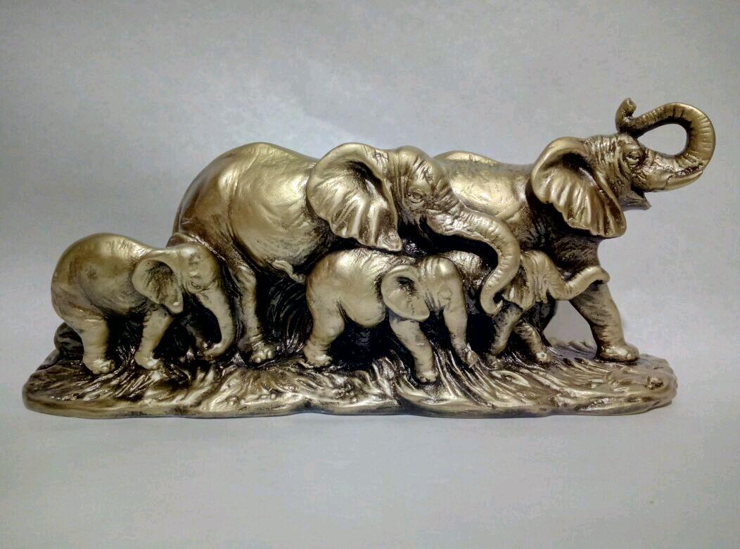Статуэтка слоны 5 – купить на Ярмарке Мастеров – BVK1TRU | Статуэтки,  Пятигорск
