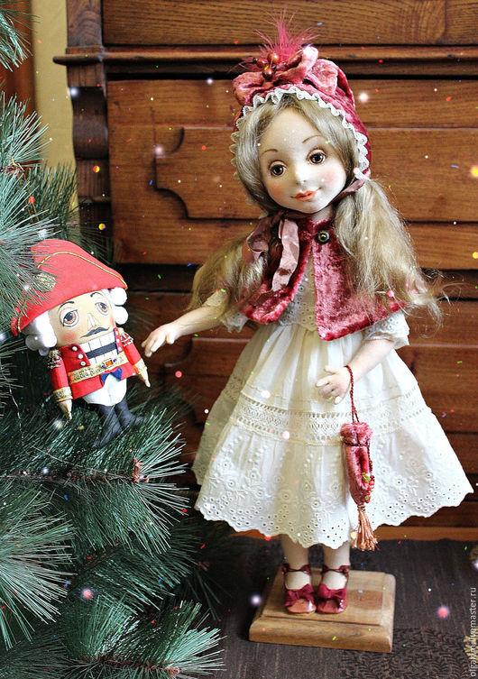 Коллекционные куклы ручной работы. Ярмарка Мастеров - ручная работа. Купить Мари(Щелкунчик в подарок, см.фото в блоге). Handmade. Бежевый