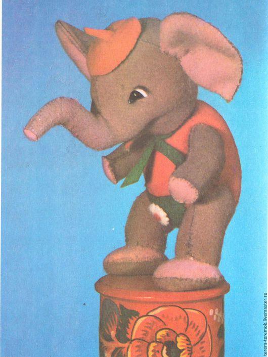 Обучающие материалы ручной работы. Ярмарка Мастеров - ручная работа. Купить Слонёнок (шарнирный) - выкройка и инструкция по шитью.. Handmade. Серый