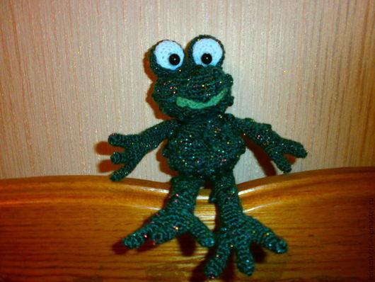 Игрушки животные, ручной работы. Ярмарка Мастеров - ручная работа. Купить Маленькие жабки. Handmade. Зеленый, лягушонок