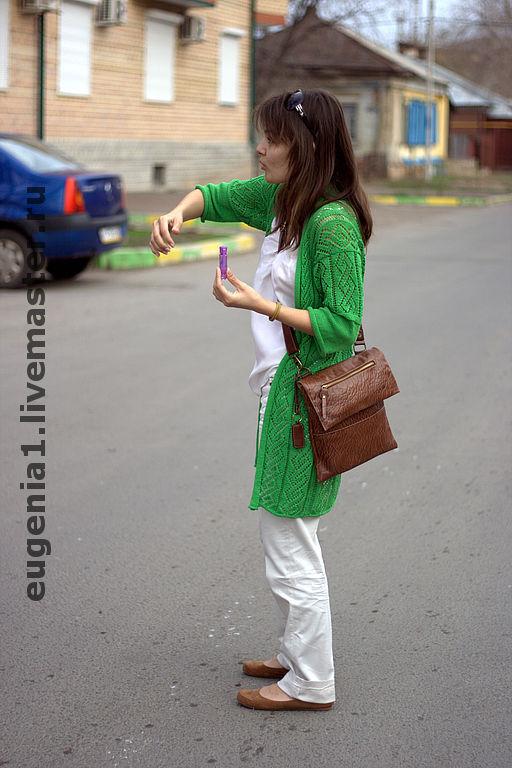 """Пиджаки, жакеты ручной работы. Ярмарка Мастеров - ручная работа. Купить Кардиган """"Зеленый луг"""". Handmade. Кардиган, 100% хлопок"""