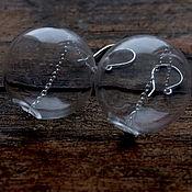 Украшения ручной работы. Ярмарка Мастеров - ручная работа Серьги из стеклянныx шаров Воздуx. Handmade.