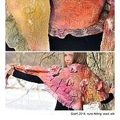 Аксессуары ручной работы. Ярмарка Мастеров - ручная работа Дизайнерский шарф ручной работы c шелковыми цветами. Handmade.
