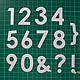 № 3. `Цифры большие` 2 набора Размеры - 3,5см х 2,5см Акварель - 30 руб  Дизайнерская бумага - 35 руб