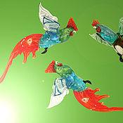 Подарки к праздникам ручной работы. Ярмарка Мастеров - ручная работа Интерьерное стеклянное украшение - Петух. Handmade.