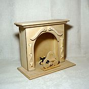 Куклы и игрушки handmade. Livemaster - original item A large fireplace for dolls. Handmade.