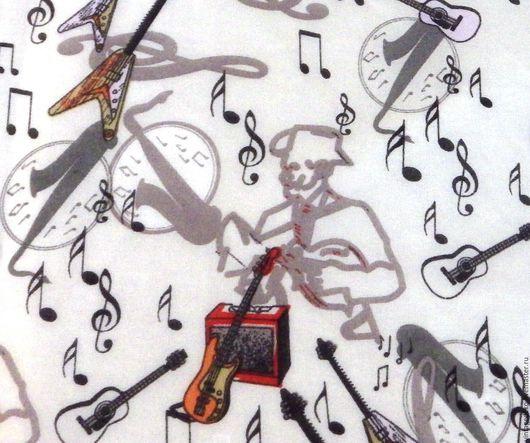 Шитье ручной работы. Ярмарка Мастеров - ручная работа. Купить Музыкальный шифон. Handmade. Комбинированный, скрипка, полиэстер