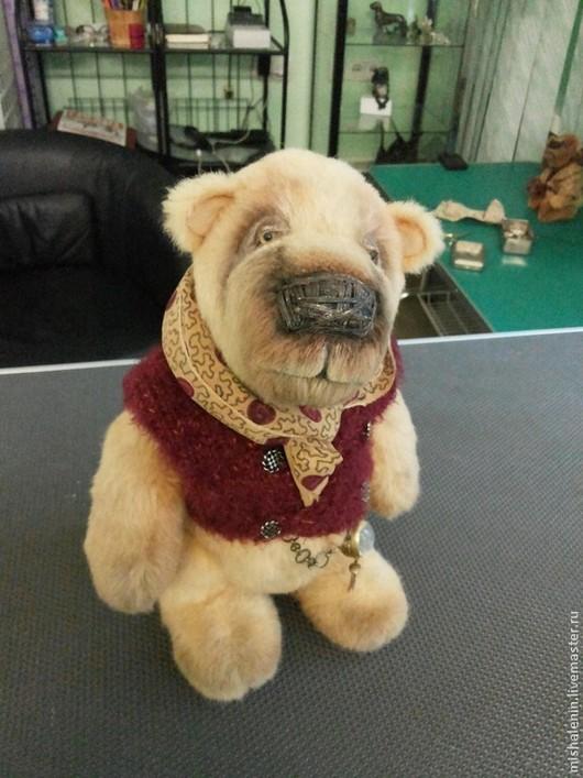 Мишки Тедди ручной работы. Ярмарка Мастеров - ручная работа. Купить медведь Коломбо. Handmade. Оранжевый, подарок, миништоф