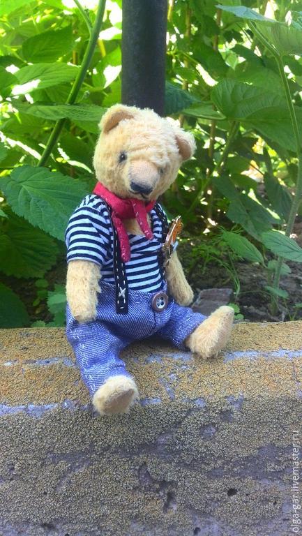 Мишки Тедди ручной работы. Ярмарка Мастеров - ручная работа. Купить Чак, Медведь Тедди. Handmade. Золотой, медведь тедди