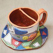 """Посуда ручной работы. Ярмарка Мастеров - ручная работа Чашка - фильтр """"Пэчворк"""". Handmade."""