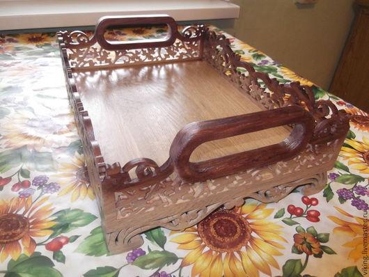 Кухня ручной работы. Ярмарка Мастеров - ручная работа. Купить Поднос. Handmade. Деревянный поднос, для чая, дерево