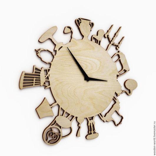 Декупаж и роспись ручной работы. Ярмарка Мастеров - ручная работа. Купить Часы с мебелью. Handmade. Комбинированный, заготовки для декупажа