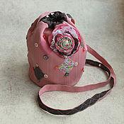 """Сумочка из ткани """"Розовое чудо"""""""