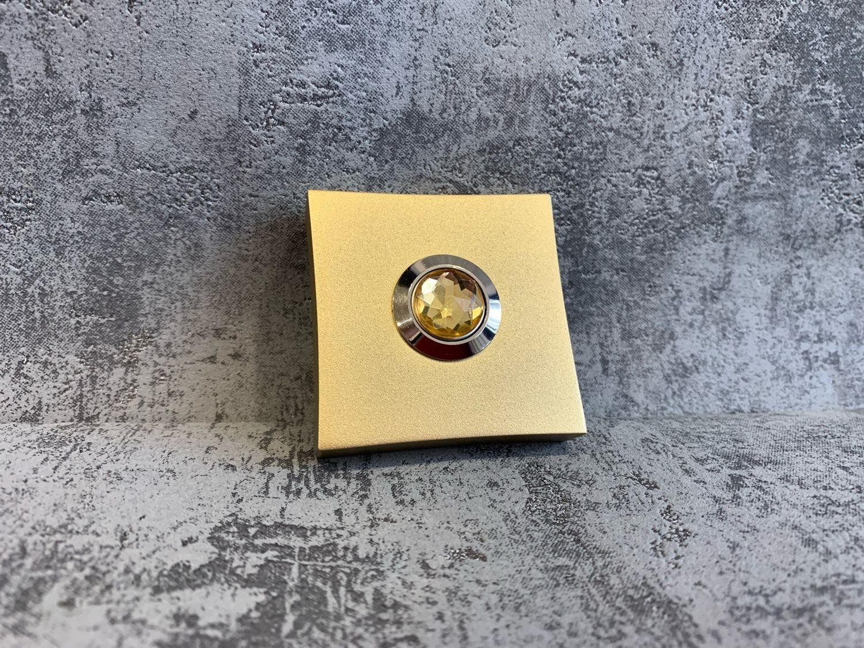 "Кнопка дверного звонка ""Matte gold stone"", Двери, Санкт-Петербург,  Фото №1"
