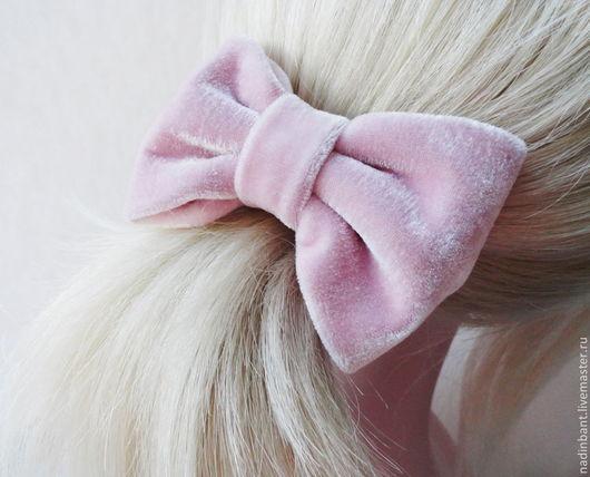 Заколки ручной работы. Ярмарка Мастеров - ручная работа. Купить Резинка для волос Пепел Розы. Handmade. Розовый, бантик