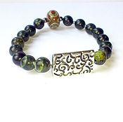 Фен-шуй и эзотерика handmade. Livemaster - original item Bracelet with dZi bead (crocodile Jasper). Handmade.
