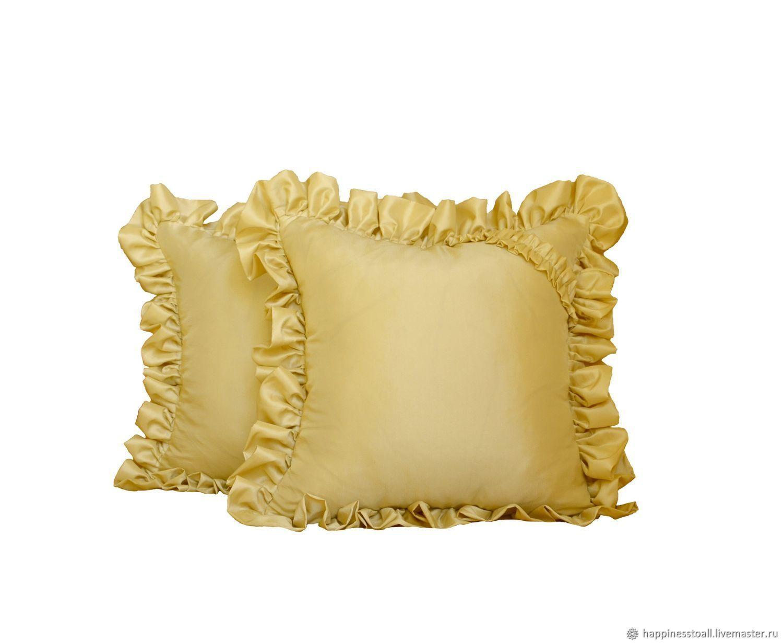 """Комплект """" Золотистый"""" из 2-х декоративных подушек"""