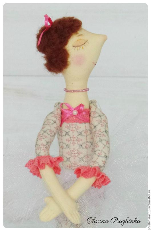 Коллекционные куклы ручной работы. Ярмарка Мастеров - ручная работа. Купить Балеринка Иринка. Handmade. Бледно-розовый, интерьерная игрушка