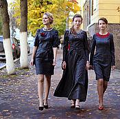 Одежда ручной работы. Ярмарка Мастеров - ручная работа Платье-футляр Лазурит. Handmade.