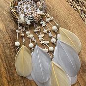 Для дома и интерьера handmade. Livemaster - original item The dreamcatcher is small with shells. Handmade.