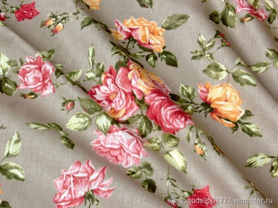 Fabric linen 50% the poem 'Briar', Fabric, Kaluga,  Фото №1