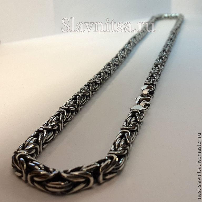 Мужское плетение серебряной цепи